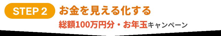 STEP 2 お金を見える化する総額100万円・お年玉キャンペーン